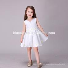 Sun Flower Pure White Nouveau 2016 Girl Dress Floral Vêtements pour enfants