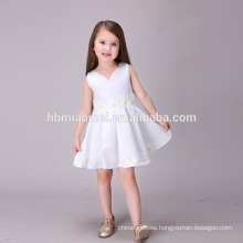 Sun Flower Pure White New 2016 Girl Dress Floral Kids Clothes