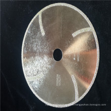 Hoja de sierra de diamante electrochapada de 180 mm, hoja de gota de tela