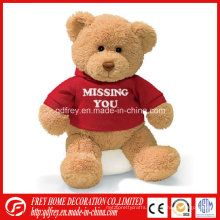 Hot Sale Brown Teddy Bear with T-Shirt