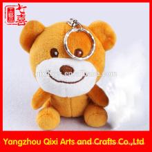 Made in China Großhandel Mini Teddybär Schlüsselanhänger niedlich gefüllte Plüsch Bär Schlüsselbund