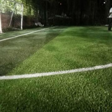 Herbe artificielle de football vert