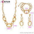 63235 Xuping African plates 18k full gold dubia fashion jewelry latest indian fashion jewellry set