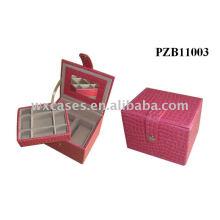 caixa de joia antiga de couro
