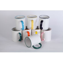 sublimation color handle mugs