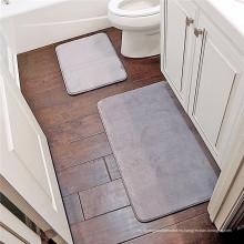 Material de la estera de baño del tamaño personalizado de espuma de memoria
