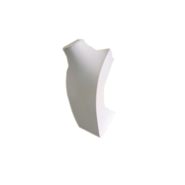 White PU Covered MDF Jewelry Necklace Display Mannequin (NS-JG)
