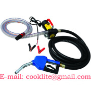 12/24V DC diesel bio fuel transfer pump kit mini dispenser with automatic dispensing gun and hoses