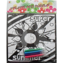 Beflockung Puzzle Kinder Färbung Malerei Zeichnung Puzzle