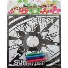puzzle de flocage enfants puzzle de dessin de peinture à colorier