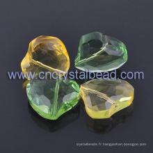 Coeur cristal perle européenne décoration