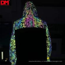 высокая светлая прочная отражательная печатная ткань радуги, отражательная ткань для одежды