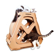 Waterwheel-Form Cat Corrugated Scratcher Cat