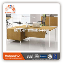 (MFC)DT-22-18 wooden office desk stainless steel table base office executive desk