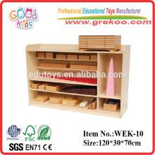 2014 nuevo estante de madera de Montessori, estante popular de Montessori, venta caliente Estante sensorial de Montessori