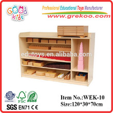 2014 new Montessori wooden shelf ,popular Montessori shelf ,hot sale Montessori Sensorial shelf