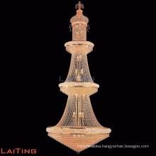 Large rose gold crystal chandelier mega light Chinese light fixtures 62045