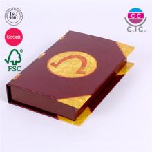caja grande de alta calidad del libro de recuerdos del papel de la cartulina para las galletas
