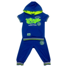 Summmer Boy Anzug Sets, Kinderbekleidung, Billig Kind Großhandel Kid Kleidung Set Ssb-117