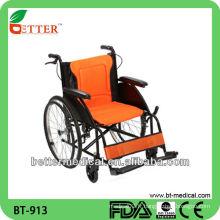 Chaise roulante en aluminium pour hôpital