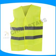 Promoción chalecos reflectantes de seguridad amarillo con certificado EN ISO 20471