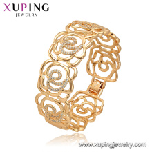 52165 Xuping Jewelry China Wholesale gold plated luxury style flower shape bangle for women