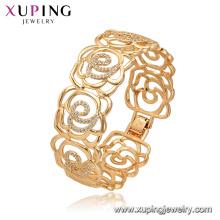52165 Xuping Jóias China Wholesale banhado a ouro estilo de luxo flor forma pulseira para as mulheres