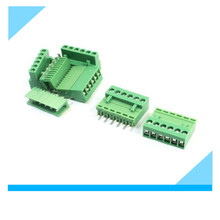 Connecteur de bornier à vis pour carte PCB 3,96 mm vert