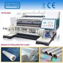 papier d'aluminium de haute vitesse 1200mm refendage machine ou machine de découpeuse