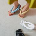 2020 Summer Custom Ladies Fashion Genuine Leather Large Size High Heel Square Toe Sandals