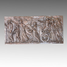 Mythologie Statue Relief / Relievo Apollo Bronze Skulptur TPE-451A / B