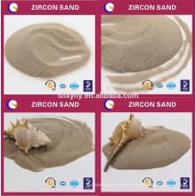 Alta areia de zircão de refração de areia fácil de pedaços