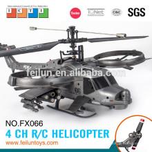 2.4 G 4CH ABS material de hélice única modelagem militar do rc avião helicóptero com giroscópio certificado CE/FCC/ASTM