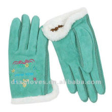 embroidery sheepskin winter glove