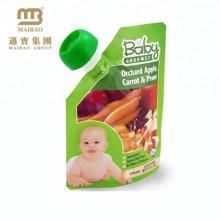 Bolsa de comida para bebé personalizada de alta qualidade com bico