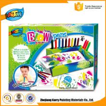Qualidade Garantida Crianças Arte caneta sopro recargas marcadores golpe caneta conjunto de fantasia