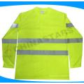 EN ISO 20471 camisa POLO reflexiva de segurança com colar de cor cinza