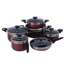 Cookware set, includes fry pan, deep fryer, saucepan, sauce pot and pancake maker