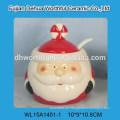 Sostenedor de cerámica del utensilio de la forma de Santa de la Navidad del artículo popular