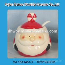 Оптовый керамический горшок для приправы с дизайном Санта-Клауса