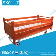 SK011-7 дешевый больницы деревянная Механическая кровать с Siderail