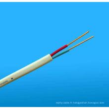 Câble double (rouge / noir) et câble Twin Active (rouge / blanc) Câbles TPS plats
