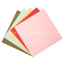 Pulpa de madera de alta calidad teñida de papel de color Niños papel de artesanía