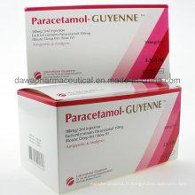 Médicaments finis pharmaceutiques analgésiques et antipyrétiques Injection de paracétamol
