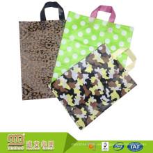 Bolso disponible de la bolsa de plástico del uso comercial de las compras 100% biodegradables de alta calidad de la muestra libre con la manija