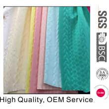 Tissu jacquard en tricot polyester avec haute qualité