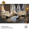 Canapé du salon inclinable en cuir blanc (GV-RS898)