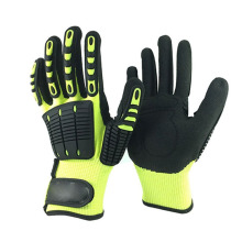 Anti-cut High Impact Polyester Oil  resistant gloves