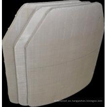 Nivel de cerámica de alúmina de alta protección cuadrada NIJ IIIA 0101.06 Placa a prueba de balas