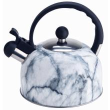 Чайник со свистком цвета камня мрамора 2л